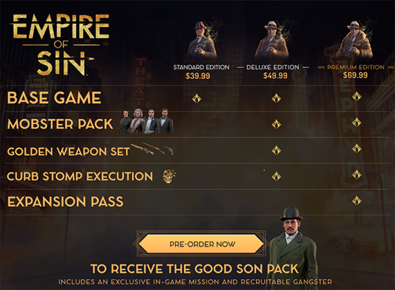 Empire of Sin Deluxe Edition Download CDKey_Screenshot 0